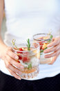 Fruity refreshments Royalty Free Stock Photo