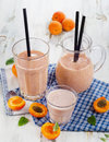 Fruity smoothie with fresh fruits selective focus Stock Photo