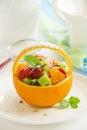 Fruity summer salad Royalty Free Stock Photo