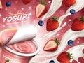 Fruity yogurt ads