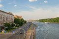Frunze embankment view of moscow in spring day Stock Photography