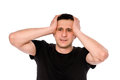 Frustrated man Royalty Free Stock Photo