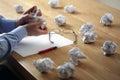 Frustrace stres a spisovatelé blokovat