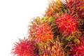 Frutos do rambutan isolados no branco Foto de Stock Royalty Free