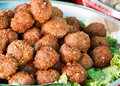 Fry meat balls Royalty Free Stock Photo