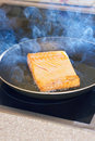 Frying fish Royalty Free Stock Images