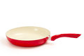 Frying pan ceramic white background Royalty Free Stock Image