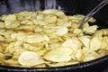 Frying pan potatoes Royalty Free Stock Photo