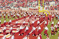 The FSU Marching Chiefs Perform at Halftime Royalty Free Stock Photos
