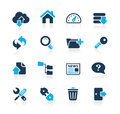 FTP & Hosting Icons // Azure Series Stock Photo