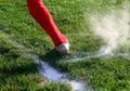 Fußballfuß Lizenzfreie Stockfotos