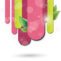 Fuchsia color background with leaf Royalty Free Stock Photo