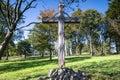 Fuchskaute mountaintop cross westerwald germany Royalty Free Stock Photo