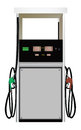 Fuel dispenser the on a white background Stock Photos