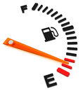 The fuel gauge d generated picture of an empty Royalty Free Stock Images