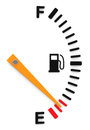 The fuel gauge d generated picture of an empty Royalty Free Stock Photo