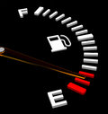 The fuel gauge d generated picture of an empty Royalty Free Stock Photography