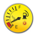 Fuel gauge illustration of an old fashioned with analogue needle Royalty Free Stock Images