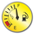 Fuel gauge illustration of an old fashioned with analogue needle Stock Image
