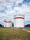 Fuel Oil Tanks Stock Photo