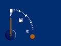 Fuel, petrol,diesel gauge - full, background Royalty Free Stock Photo
