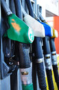Fuel petrol pump Royalty Free Stock Images