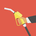Fuel pump in hand. Royalty Free Stock Photo