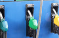 Fuel pump at a station Stock Image