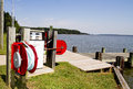 Fuel station at camping ground for boaters Royalty Free Stock Images