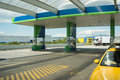 Fuel station empty on a summer day Royalty Free Stock Image