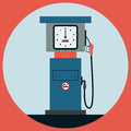 Fuel station pump the flat vector illustration Royalty Free Stock Photos
