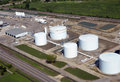 Fuel storage facility Stock Image