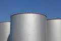 Fuel storage tanks Royalty Free Stock Photo