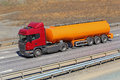Fuel truck on the highway Royalty Free Stock Photo
