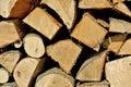 Fuel wood a closeup of firewood Stock Photos