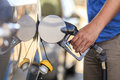 Fueling a car at petrol station Royalty Free Stock Photography