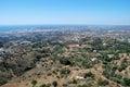 Fuengirola coastline from Mijas, Spain. Royalty Free Stock Photo