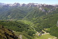 Fuente dé beautiful view of in picos da europa asturias spain Royalty Free Stock Photo