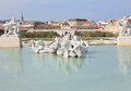 Fuente en el parque del belvedere Fotos de archivo libres de regalías
