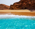Fuerteventura la pared beach at canary islands pajara of spain Stock Photo