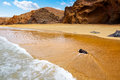 Fuerteventura la pared beach at canary islands pajara of spain Stock Images