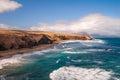 Fuerteventura pared beach canary islands spain la at Royalty Free Stock Image