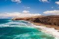 Fuerteventura pared beach canary islands spain la at pajara of Royalty Free Stock Photography