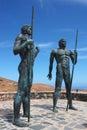 Fuerteventura statue in canary islands spain Stock Image