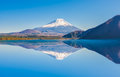 Fuji Mountain Reflection at Motosu Lake