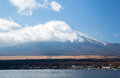 Fuji mountain yamanaka lake fujisan from at yamanashi japan Stock Photography