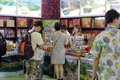 Fujian province native products stall chinese specialty in the show hall of amoy city china Royalty Free Stock Photos