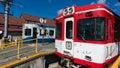 Fujikyu 1200 series train in Matterhorn railway, Kawaguchiko, Ja Royalty Free Stock Photo