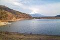 Fujisan and Lake Shoji Royalty Free Stock Photo