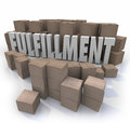 Fulfillment Cardboard Boxes Shipping Orders Warehouse Shipments Royalty Free Stock Photo